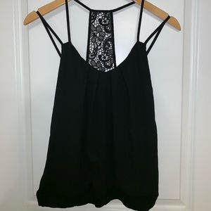 Express strappy lace back camisole
